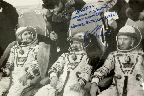 Экипаж космического корабля «Союз Т-3». Слева направо:  О.Г. Макаров (бортинженер), Л.Д. Кизим  (командир), Г.М. Стрекалов (космонавт-исследователь). 1980.   © М.А. Шапарнёва (Личный архив).