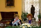 Заседание ведут Е. П. Щеглова и О. К. Страшкова