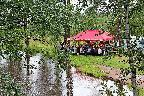 Берег реки Лубья во Всеволожске, где проводится встреча под открытым небом «День памяти поэта Гумилёва во Всеволожске»