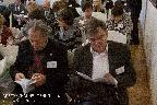 В зале заседаний. В первом ряду М. Н. Толстой (слева), Д. Ю. Козлов (справа)