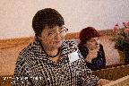С докладом «Война в судьбе одной семьи (потомственные военные Шороховы)» выступает В. Ю. Волошина — доктор исторических наук (Омск)