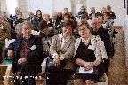 В зале заседаний. В первом ряду: М. Н. Толстой, В. Г. Шаронова — кандидат исторических наук (Москва), Н. А. Слепухина