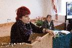 С докладом «Мемориальный памятник — мавзолей на Русском участке кладбища в Белграде(идея и этапы строительства): по архивным документам» выступает И. Н. Антанасиевич; ведущий заседания Д. Ю. Козлов