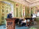 С докладом «Война и судьбы русских эмигрантов (С. Д. Оболенский и И. Д. Сургучев)» выступает А. И. Кругов, кандидат исторических наук (Ставрополь)