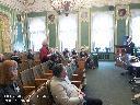 П. Н. Базанов отвечает на вопросы участников конференции