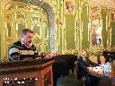 С докладом «Эмигрант второй волны Лев Рубанов: дни и труды в России и Бразилии» выступает В. Л. Телицын, доктор исторических наук(Москва); ведущий заседания В. Ю. Черняев