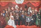 В. И. Шухаев. «Царствующие монархи мира». 1934. Шарж в журнале «Vanity Fair». 1934.